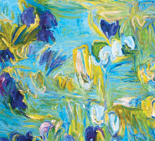 'Pond Iris' By Reg Livermore