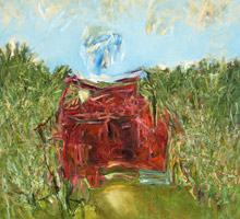 'Red House in a Clearing' by Reg Livermore