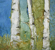 ' Three Canoe Birches' by Reg Livermore